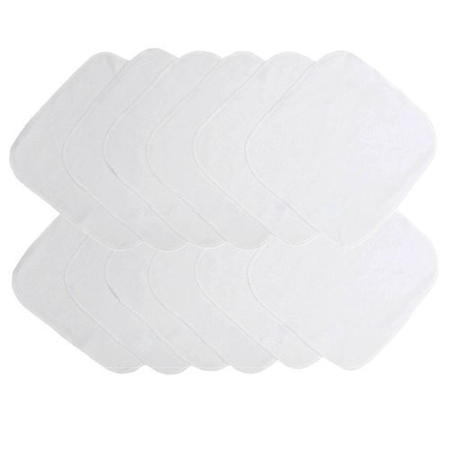 Neat Solutions Solid Knit Terry Washcloth Set, White, 12-Count [12 Count - White]