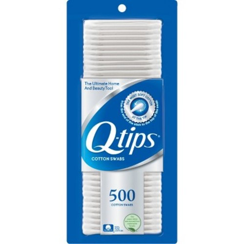 Q Tips Cotton Swabs Size 500s Q-Tips Cotton Swabs 500ct [Pack of 1]