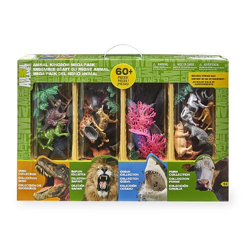 Animal Planet Animal Kingdom Mega Pack Playset - 60 Pieces