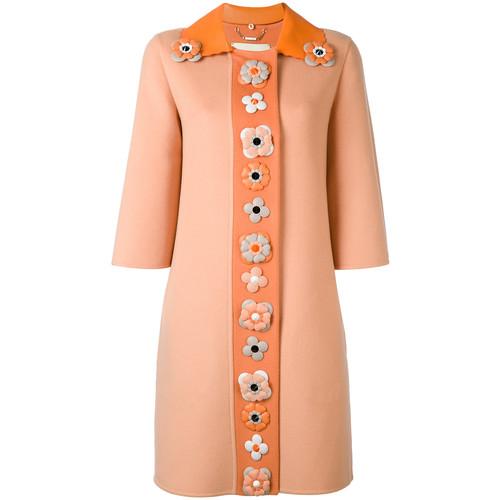FENDI Single Breasted Embellished Coat