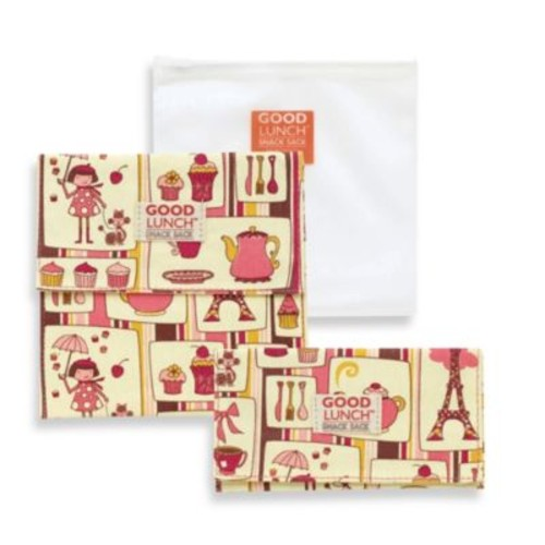 Sugarbooger by o.r.e Good Lunch Set of 3 Snack Sack in Cupcake