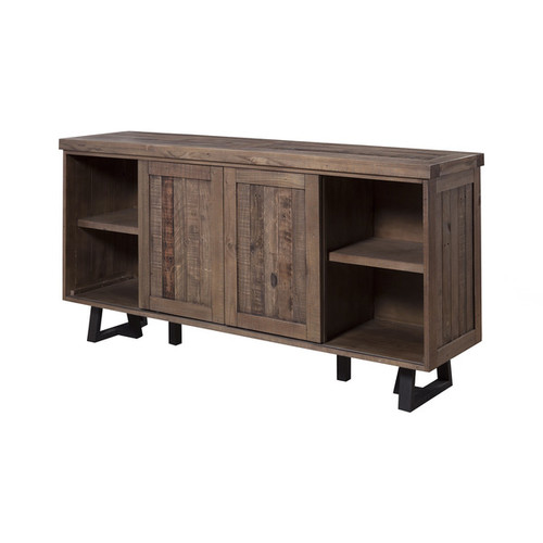 Alpine Furniture Buffets, Sideboards & China Cabinets Alpine Prairie Sideboard with Wine Holder