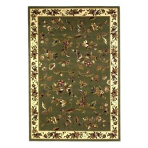 Kas Rugs Classic Trellis Sage/Ivory 3 ft. 3 in. x 4 ft. 11 in. Area Rug