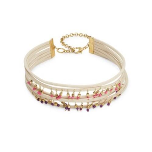 Multi-Row Beaded Choker Necklace