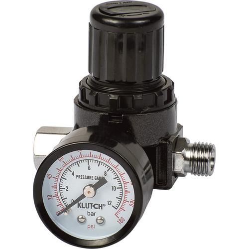 Klutch Locking Air Pressure Gauge with Regulator  1/4in.