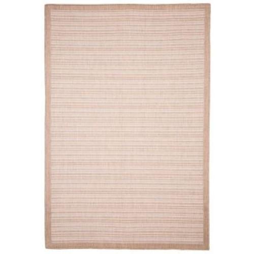 Casual Stripe Beige 5 ft. x 7 ft. 7 in. Indoor/Outdoor Area Rug