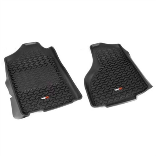 Rugged Ridge All-Terrain Black Front Row Floor Liner Fits 2012 to 2014 Dodge Ram 1500,2500,and 3500 Standard
