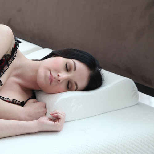 Remedy Large Contour Memory Foam Pillow with Cover
