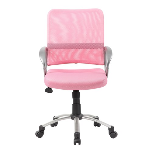 Boss Office Products Pink Adjustable Breatheable Task Chair