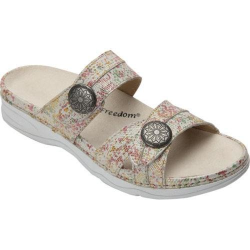 Women's Drew Ariana Slide Pink/Gold Floral Leather