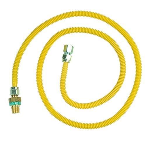 BrassCraft CSSD45E-72 P 1/2-Inch MIP EFV x 1/2-Inch FIP x 72 In.Safety+PLUS Gas Appliance Connector, 1/2-Inch OD 49,100 BTU