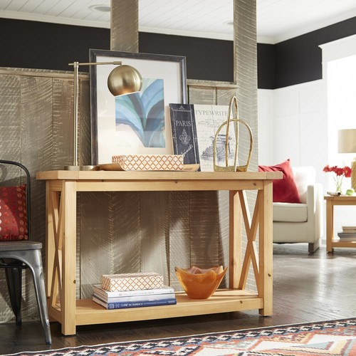 Home Styles Country Lodge Pine Console Table