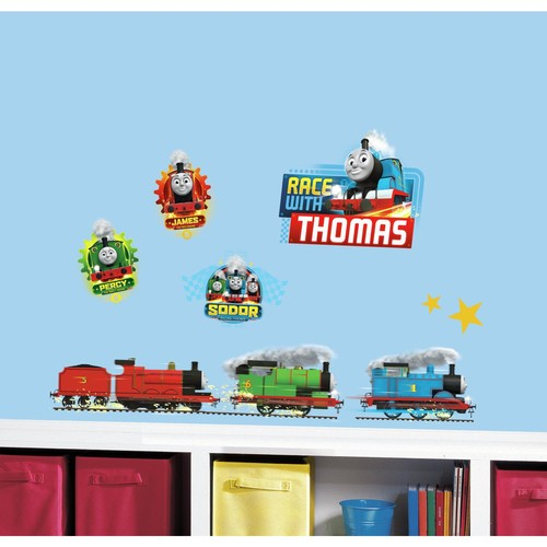 RoomMates Thomas and Friends Racing Peel and Stick Wall Decals