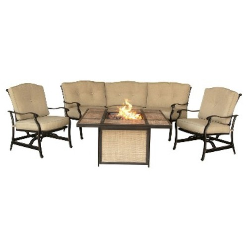 Hanover - Traditions 4-Piece Lounge Set - Natural Oat