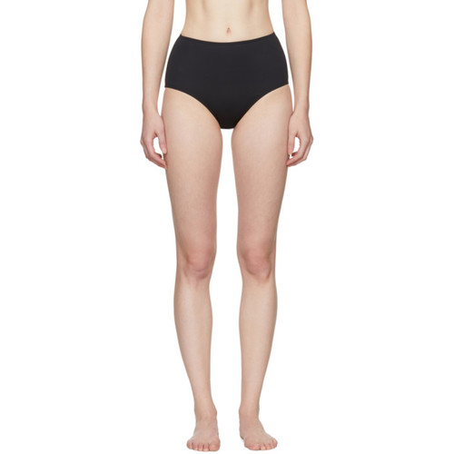 Black Classic High-Waist Bikini Briefs