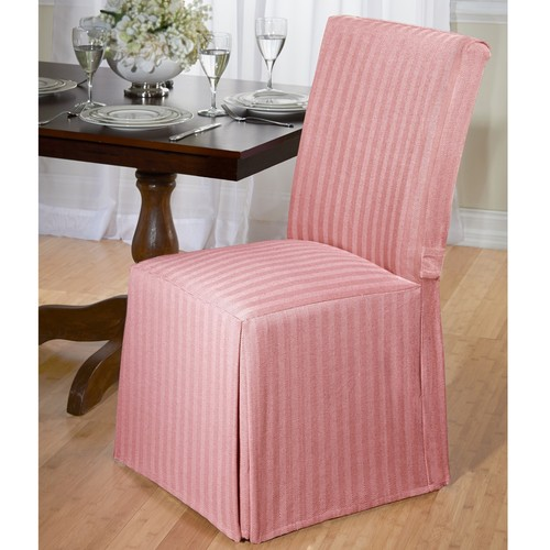 Madison Herringbone Dining Room Chair Slipcover