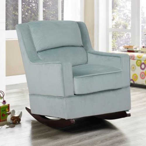 Relax-A-Lounger Branton Nursery Rocking Chair in Serenity Blue