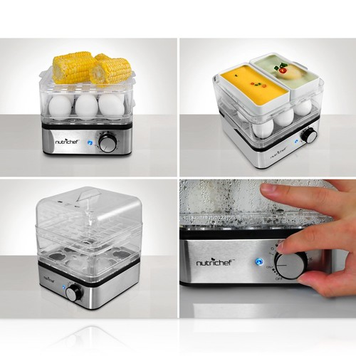 Nutrichef Pkec12 Electronic Food Steamer Egg Cooker & Boiler