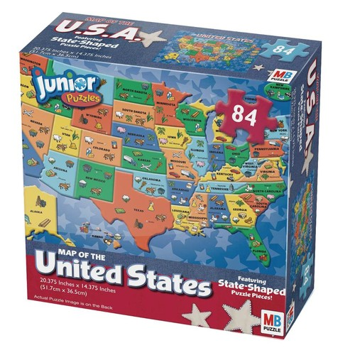 Cardinal Industries Unites States World Map Jigsaw Puzzle - 84-Piece