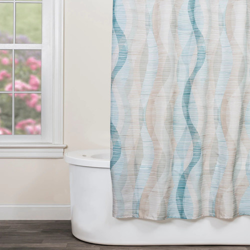 Saturday Knight, Ltd. Sketchbook Waves Shower Curtain
