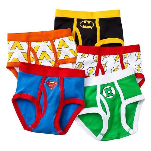 Handcraft Little Boys' Justice League Logo Brief Set [Assorted, 4]