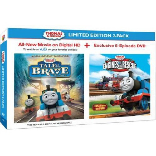 Thomas & Friends: Tale Of The Brave (Digital HD Card) / Engines To The Rescue (DVD) (Walmart Exclusive) (Anamorphic Widescreen)