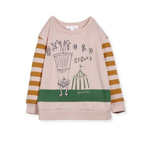 BURBERRY Olivia Striped Graphic Sweatshirt, Size 4-14