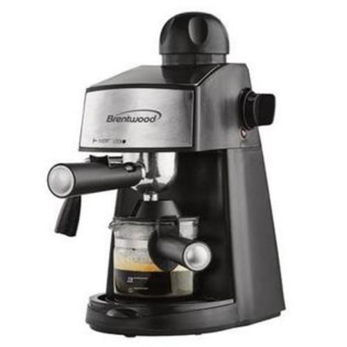 Brentwood GA-125 Espresso & Cappuccino Maker Black u0026 Stainless Steel