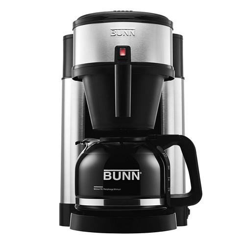 Bunn NHS-RB Refurbished 10 CUP COFFEE MAKER BLACK/STAINLESS STEEL-NHS