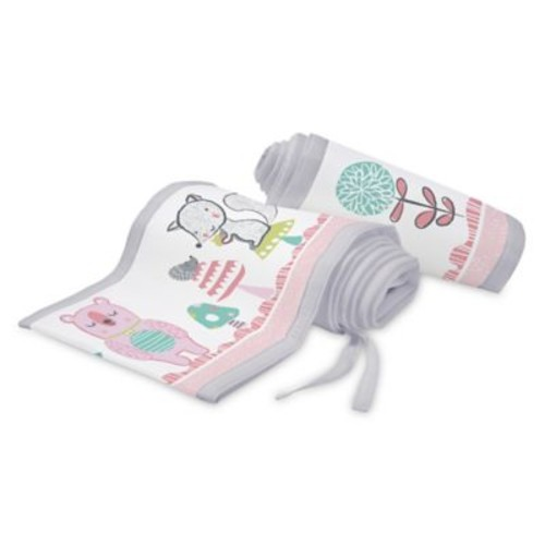 BreathableBaby Forest Breathable Mesh Crib Liner in Pink