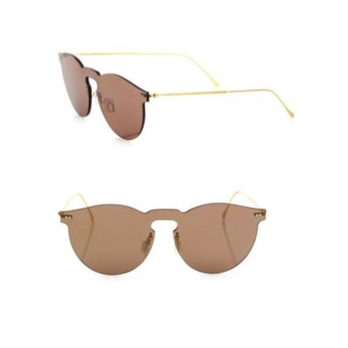 Leonard Mask 47MM Classic Round Mirrored Sunglasses