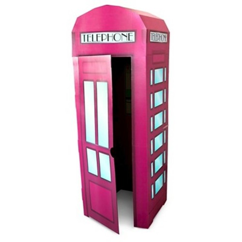 Pink Phone Booth Stand