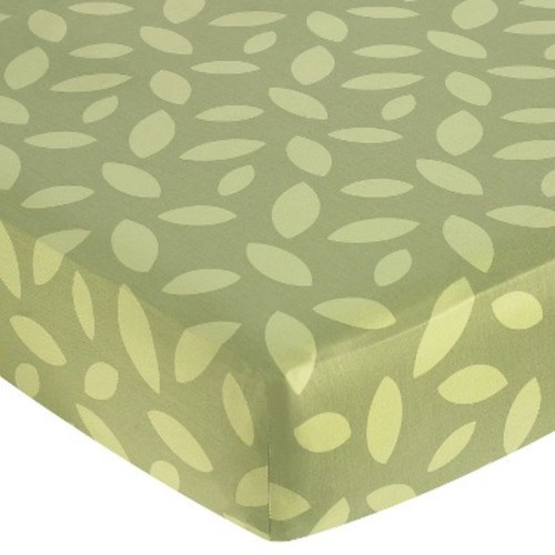 Sweet Jojo Designs Jungle Time Fitted Crib Sheet - Leaf Print