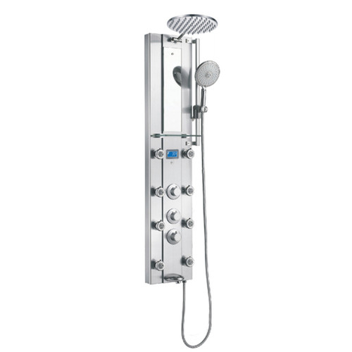Blue Ocean 52-inch Stainless Steel Thermostatic Shower Panel Tower