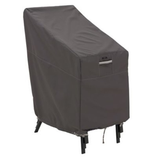 Classic Accessories Ravenna Patio Stackable Chair Cover, Dark Taupe