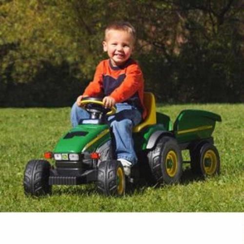 Peg Perego John Deere Farm Tractor & Trailer Non Powered Ride On