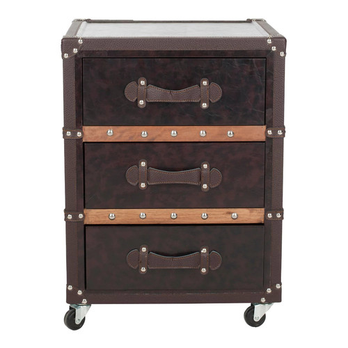 Safavieh Norman 3-Drawer Rolling Storage Chest