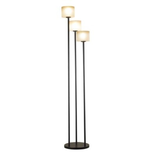 Kenroy Home Matrielle 72 Inch 3 Light Torchiere In Oil Rubbed Bronze Finish With Amber Scavo Glass Shades [Oil-rubbed Bronze]