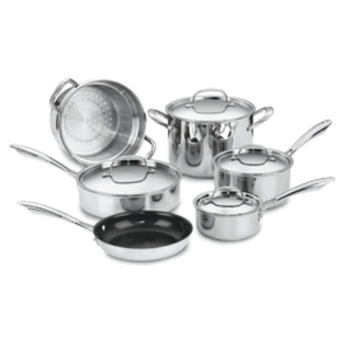Cuisinart 10-Piece GreenGourmet Aluminum Cookware Set with Lids