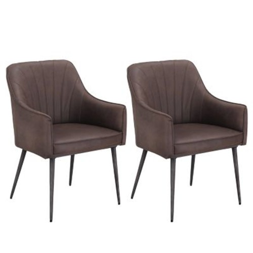 Corrigan Studio Marques Luxury Upholstered Dining Chair (Set of 2)