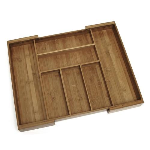 Bamboo Expandable Flatware Organizer