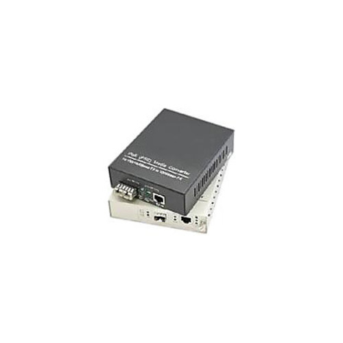 AddOn 1 10/100Base-TX(RJ-45) to 1 Open SFP Port Industrial Media Converter