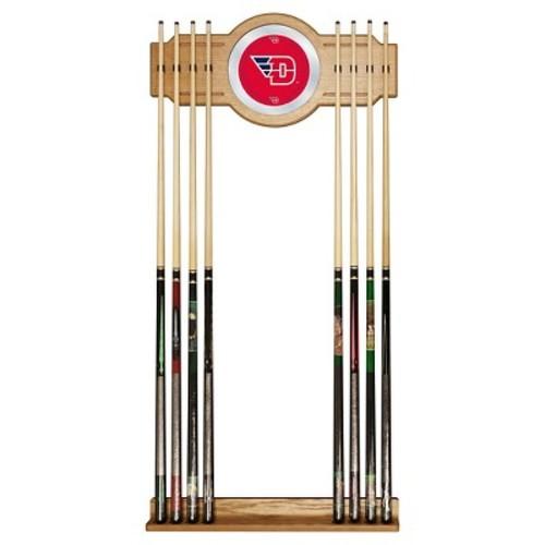 NCAA Dayton Flyers Wood & Mirror Wall Cue Rack 2pc