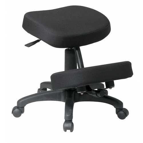 Office Star Ergonomic Fabric Knee Chair, Black