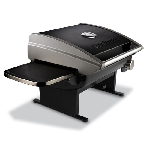 Cuisinart CGG-200B Portable Outdoor Tabletop Propane Gas Grill, 12000 BTU, Black [Black, Tabletop]