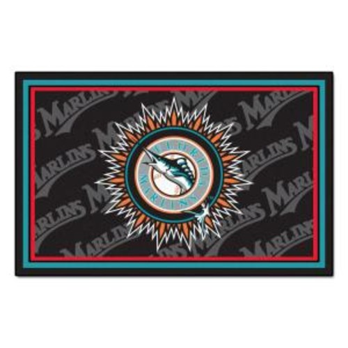 FANMATS Miami Marlins 4 ft. x 6 ft. Area Rug
