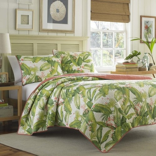 Tommy Bahama Aregada Dock Ecru Cotton 3-piece Quilt Set