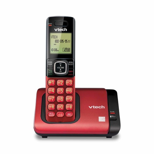 VTech CS6719-16 DECT 6.0 Expandable Cordless Phone with Caller ID/Call Waiting, Red with 1 Handset