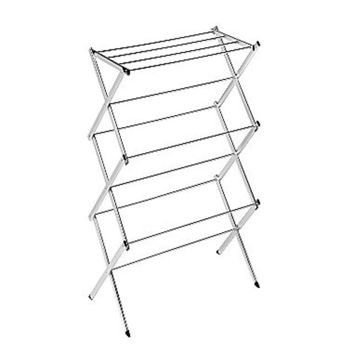 Honey-Can-Do DRY-01107 Slim Commercial Drying Rack, Chrome