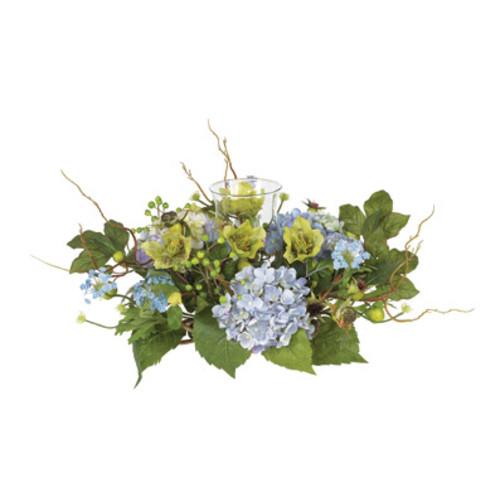 Nearly Natural Hydrangea Candleabrum Centerpiece